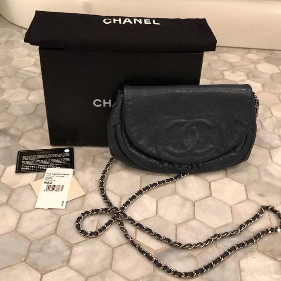 8a3b08f2d5f9 CHANEL Handbags - Chanel Half Moon Wallet on a Chain